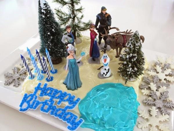 Birthday Cake Ideas Frozen ~ Easy frozen birthday cake for a girls party desire empire
