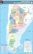 Mapa Político de la República Argentina - Tradicional republica argentina politico tradicional