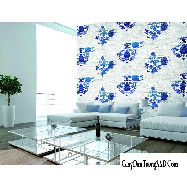 Sử dụng mẫu giấy dán tường gắn liền với thiên nhiên cho phòng khách