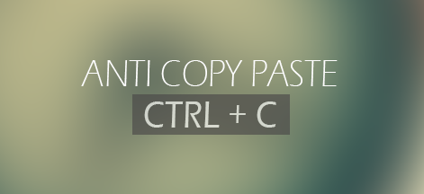 Cara Membuat Anti Copy Paste Artikel Blog