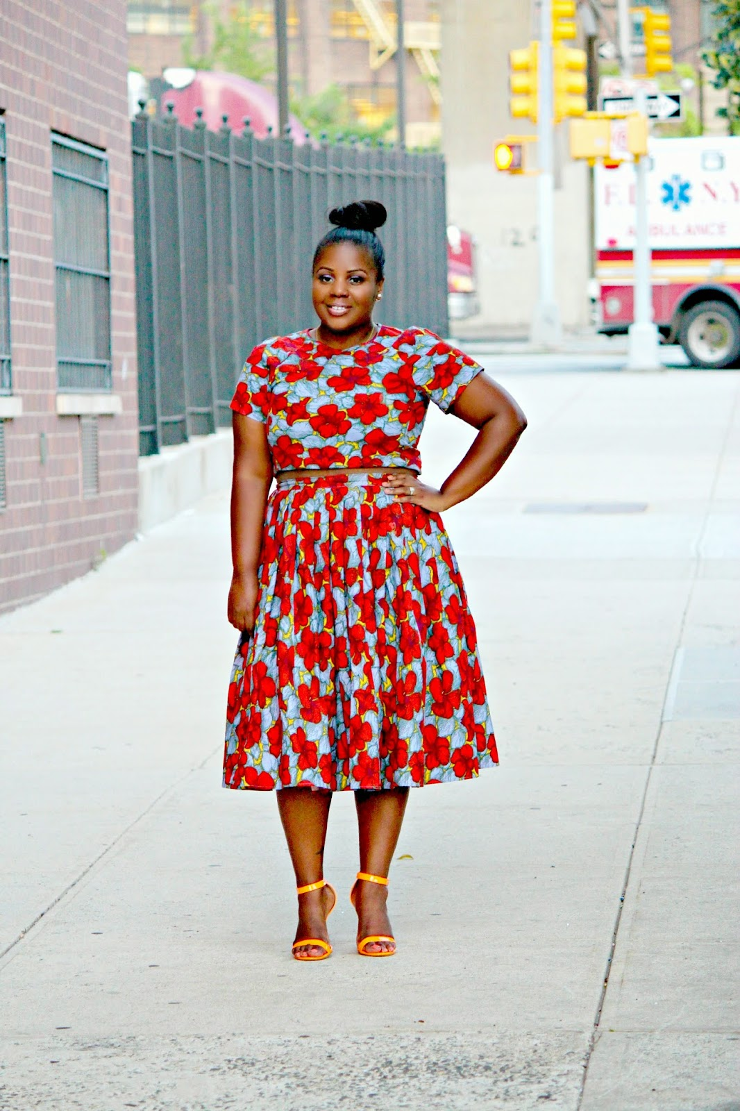 H&M HM SUMMER 2014 PLEATED MIDI SKIRT
