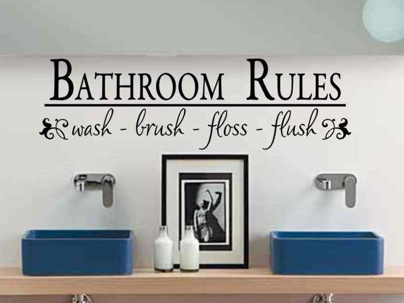 Modern vinyl wall art decals wall stickers wall quotes for Bathroom wall decor quotes