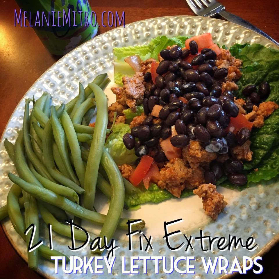 Turkey Lettuce Wraps, 21 Day Fix Extreme, Melanie Mitro, Clean Eating recipes, healthy dinners for kids