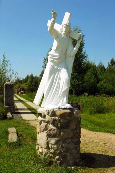 The Statue of Jesus Christ in Mosar - Belarus
