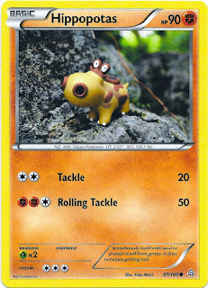 Hippopotas Primal Clash Pokemon Card