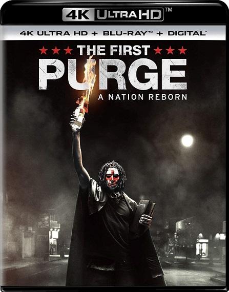 The First Purge 4K (12 horas para Sobrevivir: El Inicio 4K) (2018) 2160p 4K UltraHD HDR BluRay REMUX 50GB mkv Dual Audio DTS-X 7.1 ch