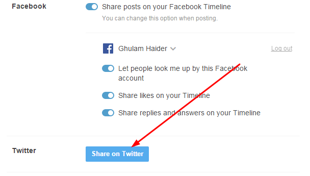 How To Link Your Twitter Account With Tumblr Blog