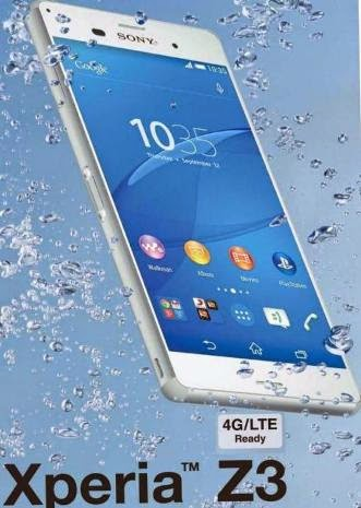 Sony Xperia Z3 Mobile phone Water proof