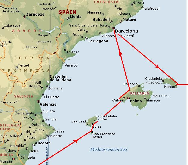 Images balearic islands map