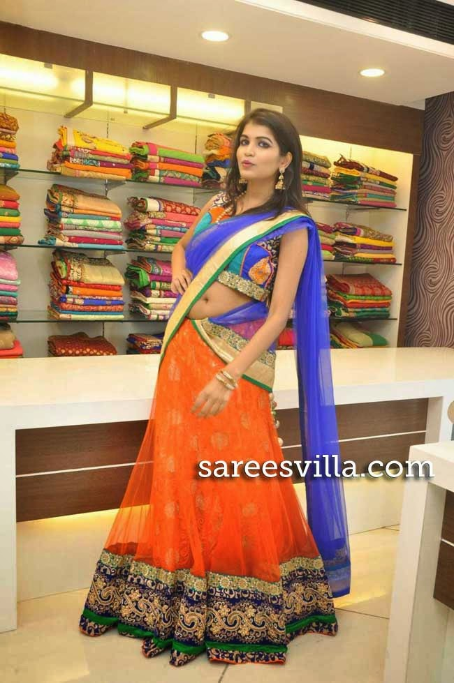 Model Isha in Designer Half Saree