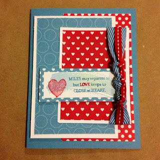 Red White and Blue Card 2014 Polkadot Parade DSP Stampin Up