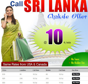 International calling Sri Lanka