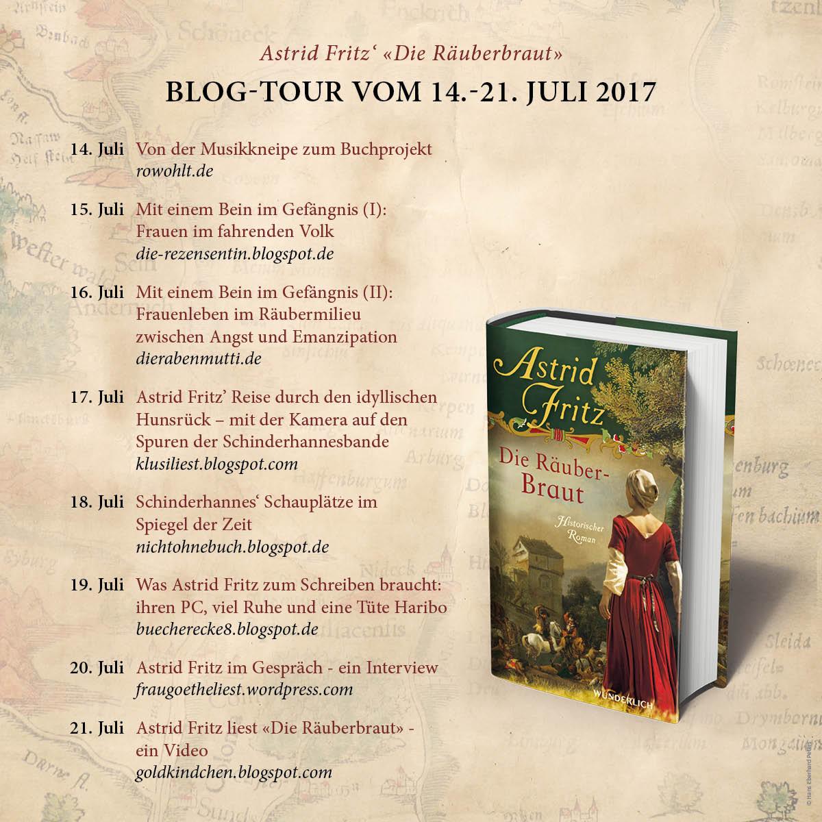 Die Blogtour zum neuen Roman von Astrid Fritz
