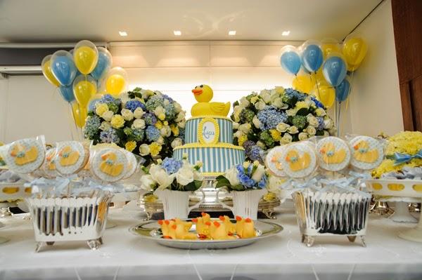 decoracao azul e amarelo para cha de bebe:Chá de bebê: amarelo + azul