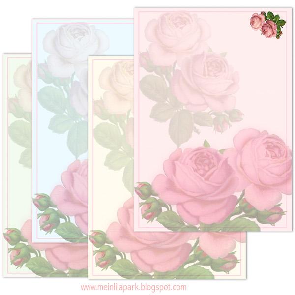Free printable vintage rose cards ausdruckbare briefpapier freebie meinlilapark - Vintage bilder kostenlos ...