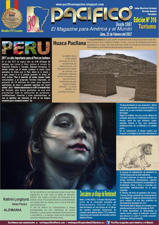 Revista Pacífico Nº 316 Turismo