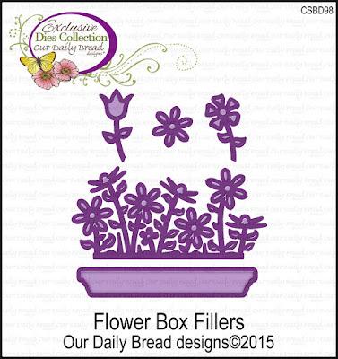 Our Daily Bread Designs Custom Die: Flower Box Fillers
