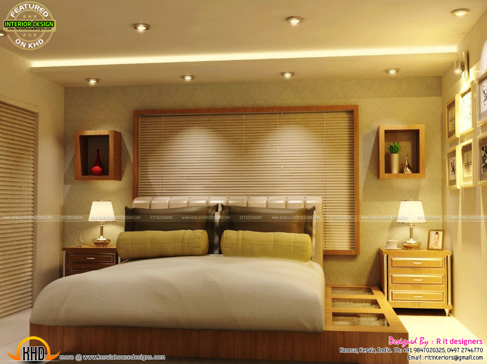 Master bedrooms interior decor kerala home design and - Interior decorations for bedrooms ...