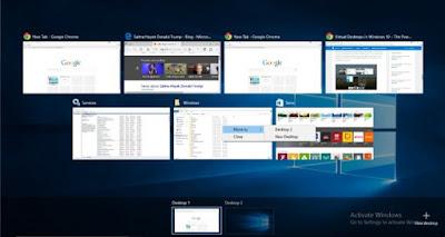 Task View dan Virtual Desktops di Windows 10 2