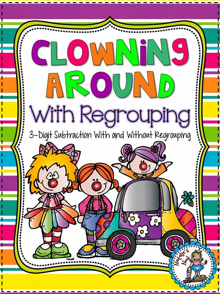 http://www.teacherspayteachers.com/Product/Clowning-Around-With-Regrouping-3-Digit-Subtraction-5-Math-Centers-206472