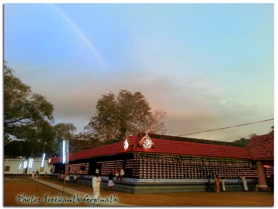 Rainbow over Ammathiruvadi Temple