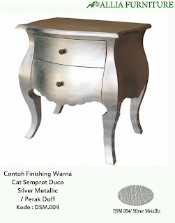 contoh furniture cat duco emas perak allia furniture