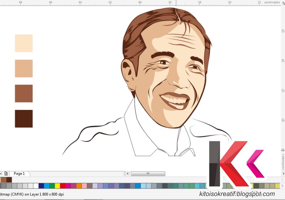 Line Art Wajah : Panduan membuat vektor simpel hanya menggunakan warna