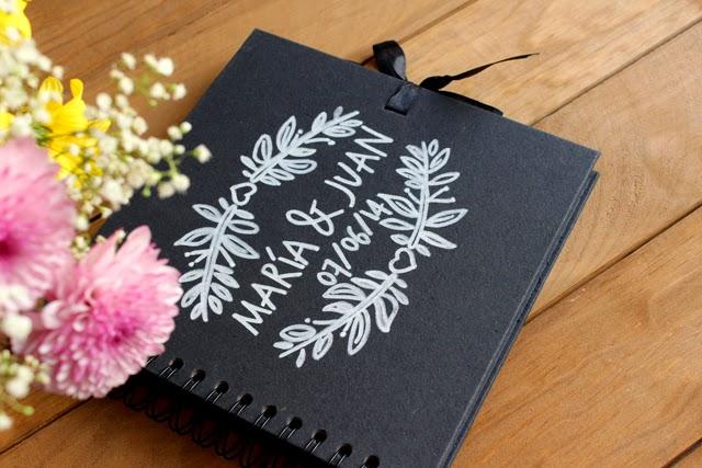 libro de firmas original boda pizarra hermanas bolena shop