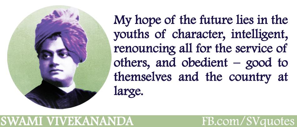swami vivekananda youth is the future of india swami