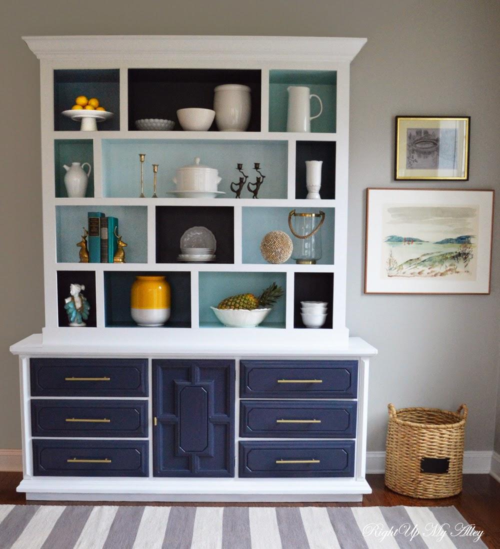 Right Up My Alley: Tutorial: DIY Color Block Hutch