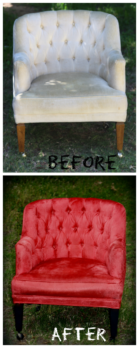 Vintage Chair Made Beautiful! (How To Redye A Chair)