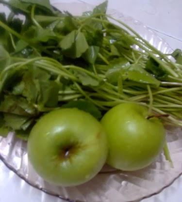 apel hijau dan pegaga untuk mata merah conjunctivitis