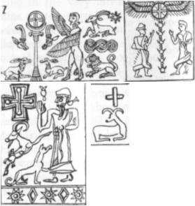 Hittite, Phoenician, Kassi cult of the Sun and Cross