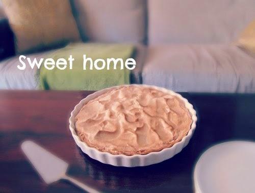 Presentación Tarta de merengue y lemon curd