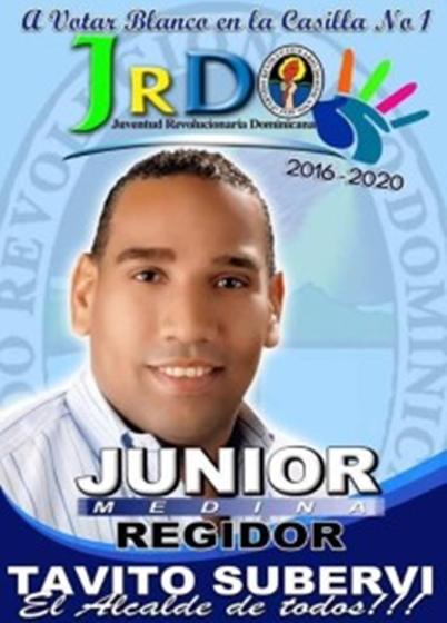 LO BUENO NO SE CAMBIA, JUNIOR SIGUE-REGIDOR 2016-2020 SANTA CRUZ DE BARAHONA-PRD