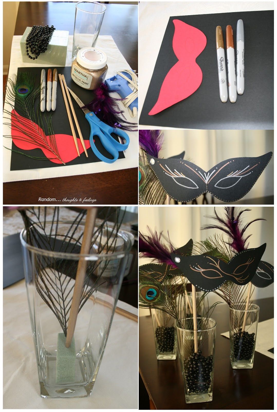 Random thoughts and feelings d i y masquerade party decor