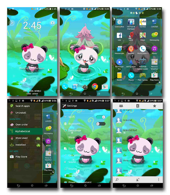 PORT ] XPERIA™ Panda Theme For Sony Xperia C - AndroidMkab.com