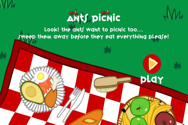 Kids Game : Ants Snack