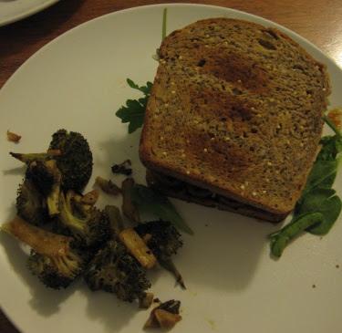 roast tempeh sandwich