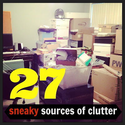 zenshmen sources of clutter, decluttering, how to declutter, organizing, organize my home, how to organize