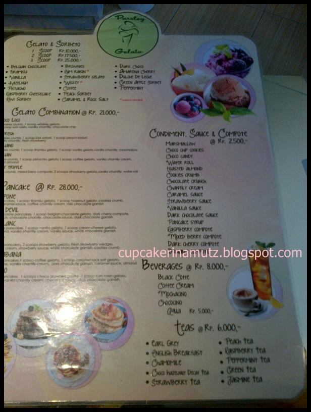 Kuliner jogja parsley gelato rina chabbymutz for Z kitchen jogja menu
