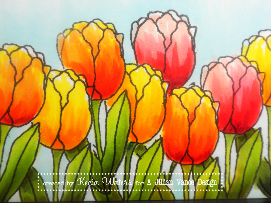 AJVD, Kecia Waters, Becky Schultea, Copic markers, tulips