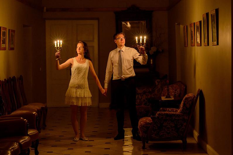 naktinė vestuvinė fotorafija Taujėnų dvare