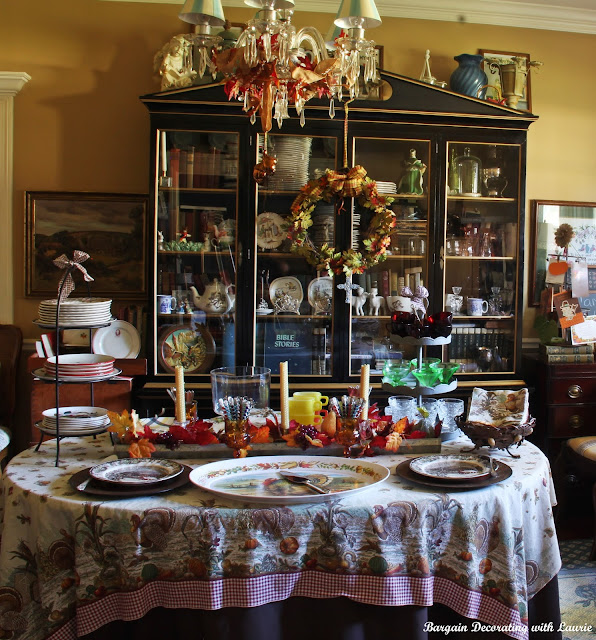 Thanksgiving Dessert Table-Bargain Decorating with Laurie
