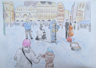 draw prague city landscape