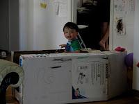 coche de cartón para niños