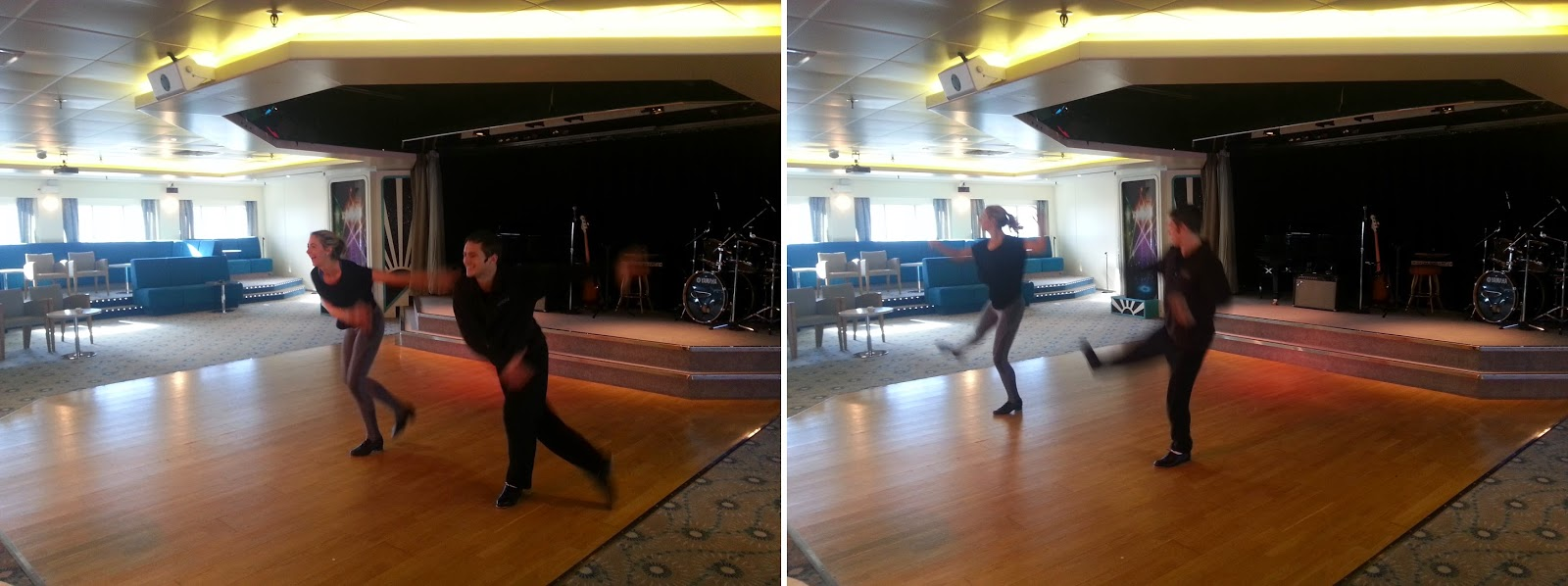 On Board Voyages of Discovery's Cruise Ship MV Voyager - Dancers