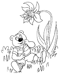 kids coloring pages, bear coloring pages