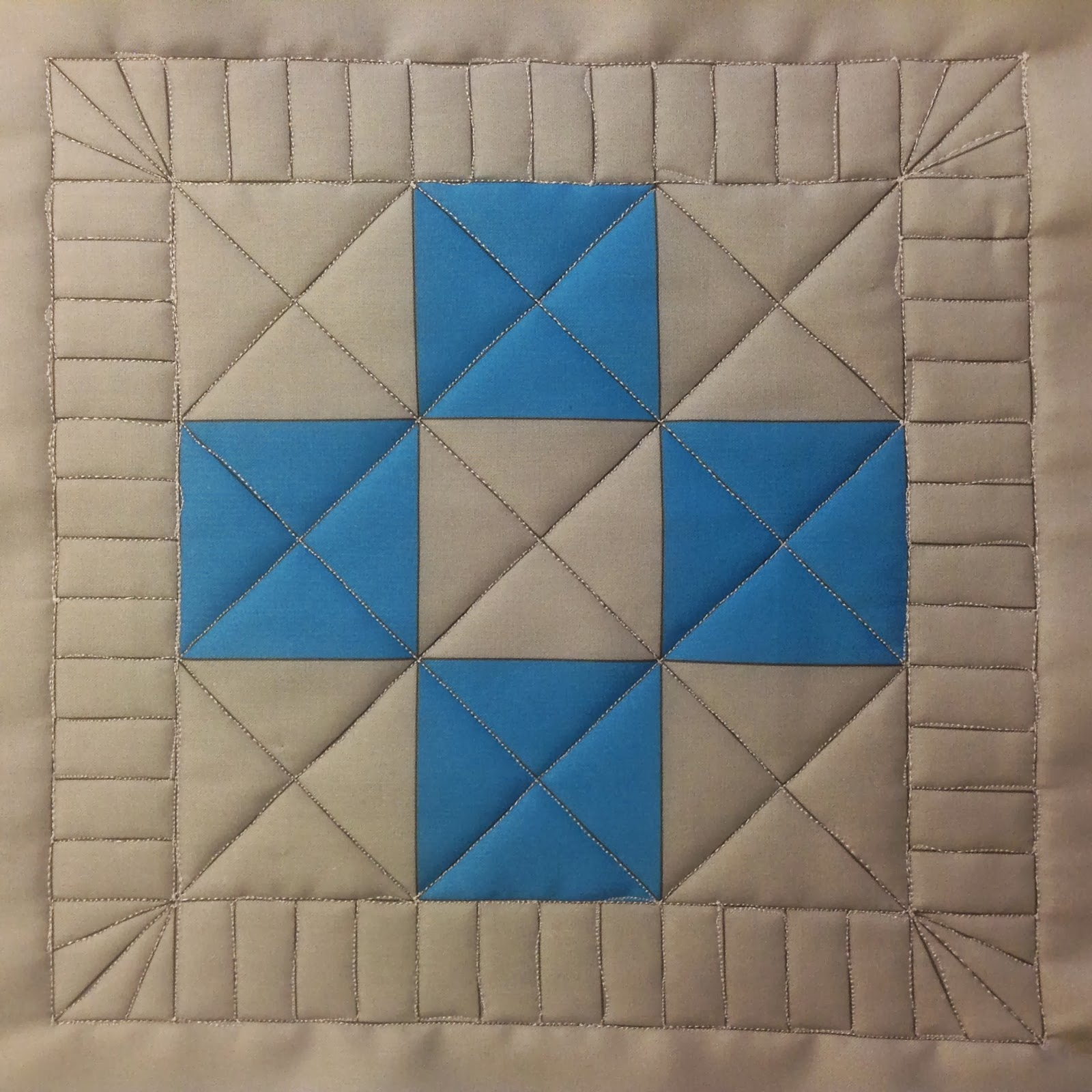 Free Motion Quilting Patterns For Blocks : The Free Motion Quilting Project: Josh s Straight Lines in a 9 Patch Block