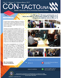 Boletín Institucional Con-Tacto UNA Marzo Abril 2017